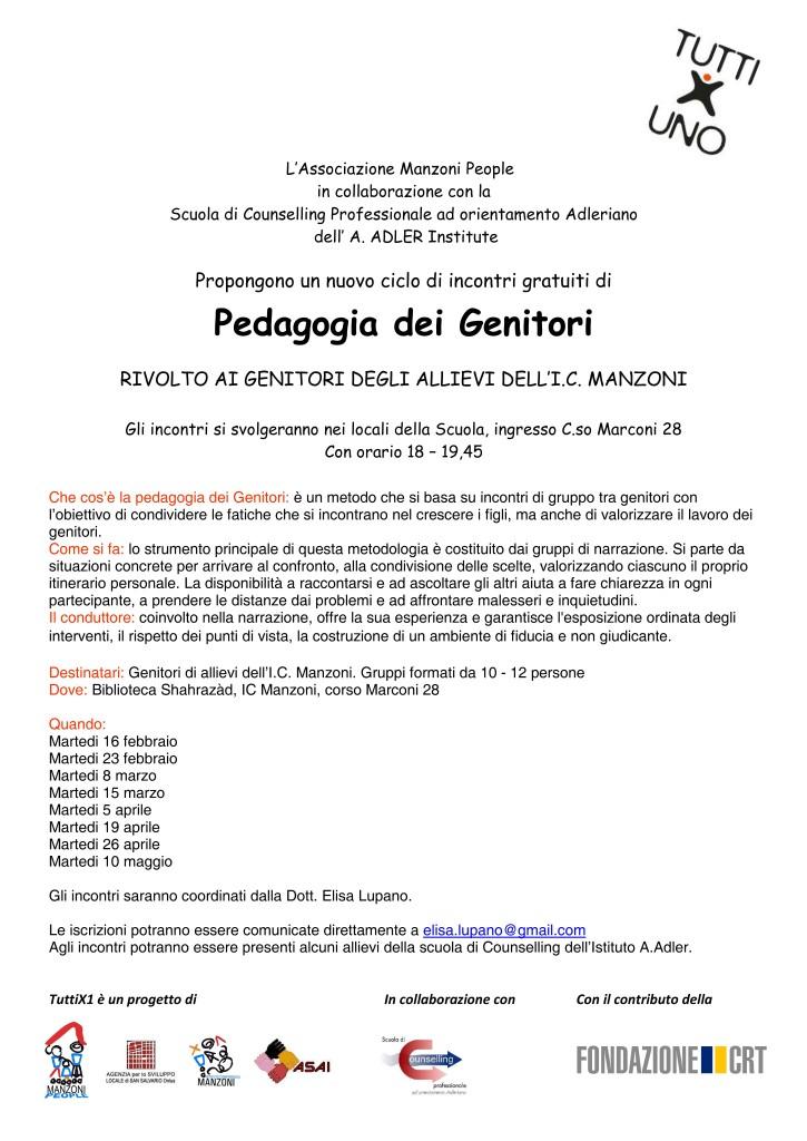 Incontri pedagogia genitoriVolantino